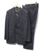 BURBERRY BLACK LABEL(バーバリーブラックレーベル)の古着「ストライプセットアップスーツ」|グレー
