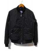 THE NORTH FACE PURPLE LABEL(ザノースフェイス パープルレーベル)の古着「MA-1ジャケット」 ブラック