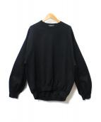 Traditional Weatherwear(トラディショナルウェザーウェア)の古着「PUFF SLEEVE SWEAT TOP」|ブラック