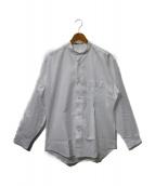ISSEY MIYAKE MEN(イッセイ ミヤケ メン)の古着「バンドカラーシャツ」|ホワイト