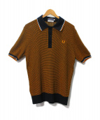 FRED PERRY(フレッドペリー)の古着「REISSUES TWO COLOUR TEXTURE KN」|ブラウン×ブラック