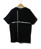 DIESEL BLACK GOLD(ディーゼル ブラック ゴールド)の古着「TCUT切替Tシャツ」|ブラック×ホワイト