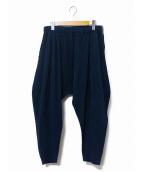 HOMME PLISSE ISSEY MIYAKE(オム プリッセ イッセイ ミヤケ)の古着「プリーツサルエルパンツ」|ブルー