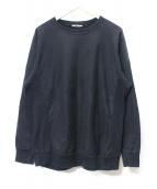 AURALEE(オーラリー)の古着「SUPER HIGH GAUGE SWEAT」|ブラック