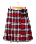 ONEIL OF DUBLIN(オニール オブ ダブリン)の古着「チェックキルトスカート」|レッド×ネイビー
