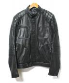 BELSTAFF(ベルスタッフ)の古着「Weybridge Leather Jacket」 ブラック