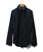 DIOR HOMME(ディオールオム)の古着「比翼デザインシャツ」|ブラック
