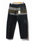 A(エィス)の古着「カモフラ切替パンツ」|ネイビー