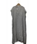 ARGUE(アギュー)の古着「LinenTwillChambrayDress」|ホワイト