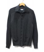 BALENCIAGA(バレンシアガ)の古着「シルク混ハイネックカーディガン」|グレー