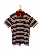 SUPREME(シュプリーム)の古着「ボーダーポロシャツ」|レッド×ベージュ