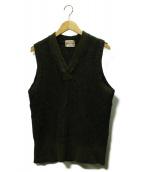 BONCOURA(ボンクラ)の古着「ニットベスト」|オリーブ