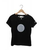 keisuke kanda(ケイスケカンダ)の古着「手縫いのTシャツ(月の丸)」|ブラック