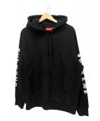 Supreme(シュプリーム)の古着「グラディエントスリーブリフーデットスウェットシャツ」|ブラック