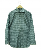Errico Formicola(エリコフォルミコラ)の古着「チェックシャツ」|グリーン×グレー