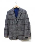 Errico Formicola(エリコフォルミコラ)の古着「チェック2Bジャケット」|グレー×レッド