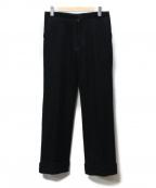 YOHJI YAMAMOTO(ヨウジヤマモト)の古着「ウール縮絨パンツ」 ブラック