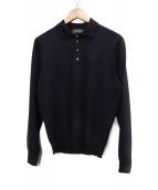 Drumohr(ドゥルモア)の古着「ニットポロシャツ」|ネイビー