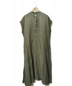 ARGUE(アギュー)の古着「ノーカラーワンピース」|グレー
