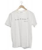 agnes b homme(アニエスベーオム)の古着「プリントTシャツ」|ホワイト