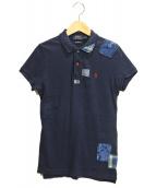 POLO(ポロ)の古着「襤褸加工ポロシャツ」 インディゴ