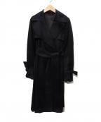 BURBERRY(バーバリー)の古着「ビッグカラートレンチコート」|ブラック