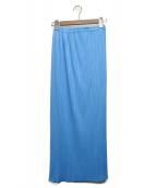 PLEATS PLEASE(プリーツプリーズ)の古着「プリーツスカート」 ブルー