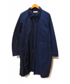 UNIVERSAL PRODUCTS.(ユニバーサルプロダクツ)の古着「ナイロンステンカラーコート」|ネイビー