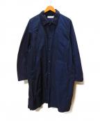 UNIVERSAL PRODUCTS.(ユニバーサルプロダクツ)の古着「ナイロンステンカラーコート」 ネイビー