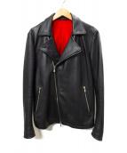 NO ID.(ノーアイディー)の古着「レザーライダースジャケット」|ブラック