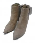 JIMMY CHOO(ジミーチュウ)の古着「ファー付ブーツ」|グレー