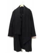 YOHJI YAMAMOTO(ヨウジヤマモト)の古着「ストールカラーウールコート」|ブラック