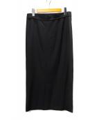 YOHJI YAMAMOTO(ヨウジヤマモト)の古着「ウールギャバジンボックススカート」|ブラック
