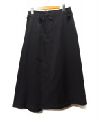 YOHJI YAMAMOTO(ヨウジヤマモト)の古着「ウールギャバジンスカート」|ブラック