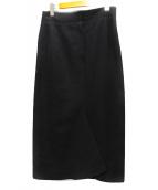 YOHJI YAMAMOTO(ヨウジヤマモト)の古着「ウールスカート」|ブラック