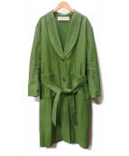 THE SHINZONE(ザ シンゾーン)の古着「ショールカラーワークコート」|カーキ