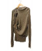 LOUIS VUITTON(ルイヴィトン)の古着「カシミヤシルクニット」|モカ