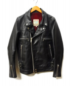 UNDERCOVER(アンダーカバー)の古着「ダブルライダースレザージャケット」|ブラック