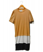 Maison Margiela 10(メゾン マルジェラ 10)の古着「Long Line T-Shirt」|ベージュ
