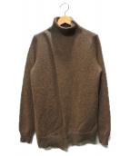 MM6(マルタンマルジェラ)の古着「ハイネック変形ニット」|ブラウン