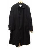 DURBAN(ダーバン)の古着「カシミヤ比翼コート」|ブラック