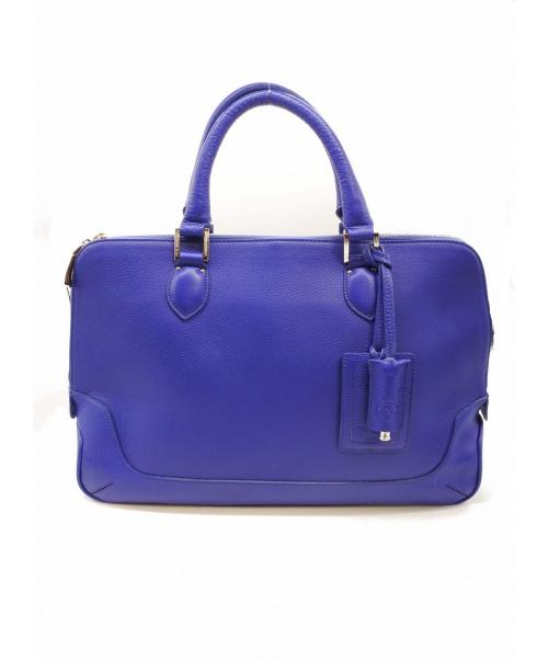 PELLE MORBIDA(ペッレモルビダ)PELLE MORBIDA (ペッレモルビダ) レザーブリーフケース ブルー サイズ:下記参照の古着・服飾アイテム