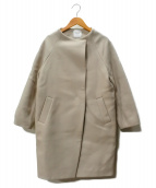 UNITED TOKYO(ユナイテッドトーキョー)の古着「カシミヤハイネックコクーンコート」|アイボリー