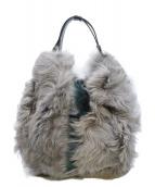 ANITA BILARDI(アニタビラルディ)の古着「ファーハンドバッグ」|グレー