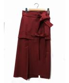 3.1 phillip lim(スリーワン・フィリップ・リム)の古着「デザインスカート」|レッド