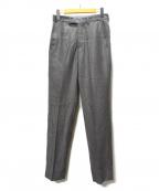 Casely-Hayford(ケイスリーヘイフォード)の古着「シルク混センタープレスパンツ」|グレー