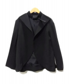 YOHJI YAMAMOTO(ヤマモトヨウジ)の古着「首ベルトウールカルゼジャケット」|ブラック