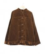 CHILD WOMAN(チャイルドウーマン)の古着「ドビーコールブルゾン」 ブラウン