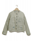 MAISON SCOTCH(メゾンスコッチ)の古着「ローエッジデニムジャケット」|インディゴ