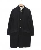 KAPITAL(キャピタル)の古着「ヴィンテージメルトンマーブルコート」|ブラック